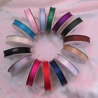 DOUBLE FACE SATIN RIBBON 16MM X 25METERS VARIOUS COLORS WEDDING BABY HAIR