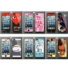 Wo Slim Front Back Clear Cartoon Screen Protector Film Cover For Iphone 5 5S (B)