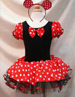 Minnie Mouse Girls Kid Birthday Party Costume Fancy Tutu Dress Up Age 1-10Y Xmas