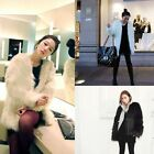 New Womens Winter Outerwear Trench Faux Fur Warm Long Style Jacket Coat Parka