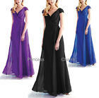 Black Blue Purple Formal Evening Bridesmaid Dress Plus Size 22 20 18 16 14 12 10