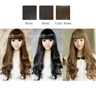 Fashion Women girl Full Wig Hair Fluffy Round Face Curly Sexy Medium 3 Colors