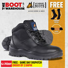 Mongrel 260020 Work Boots. Steel Toe Safety. Black Lace-Up. Brand New Footwear.