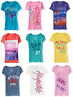 Three Womens Junior Aeropostale T-Shirts XS S M L XL 2XL or 3XL NWT LOT OF 3 NEW