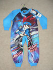 BOYS  BEYBLADE BLUE FLEECE ALL IN ONE PYJAMAS ONESIE  SLEEPSUIT  2 3 4 5 6 8 10