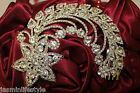 Diamante Rhinestone Head Tiara Hair Claw Comb Bridal Prom Costume Jewellery