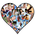 Personalised Photo Collage Canvas Print- Personalised Photo Montage -Heart Shape