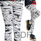 CLOTH TAPE MUMMY PRINTED ! TREND SLIM BONDAGE PUNK LEGGINGS J1018W