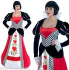 Ladies Full Length Queen of Hearts Book Day Fancy Dress Costume Outfit Plus Size