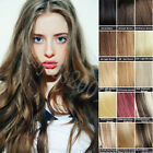 Full Head Clip in on Real Human Hair Extensions Straight Any Colors Size 7Pcs/ST