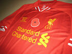 Liverpool WARRIOR 2013-14 Poppy Remembrance Home Short-Sleeve Replica Shirt
