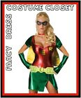 Robin Superhero Fancy Dress Up Costume Sexy Super Hero Batman Ladies Womens