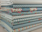 SB LT BLUE Lovely Flower Collection 100% Cotton Poplin Fabric Quilting Patchwork