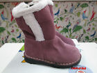 Ricosta 'Uski' Girls Brushed Suede Purple Snow Boots Fur Lined EU20 UK 4 50% OFF