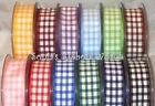 BERISFORDS 15MM GINGHAM CHECK RIBBON - 12 COLOURS - 4 LENGTHS 2, 5, 10, & 20MTRS