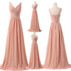 Stylish Long Bridesmaid Deep V Women's Pageant Evening Prom Party Cocktail Dress