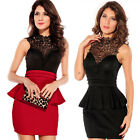 2014 Sexy Women's Elegant Lace Party Floral Evening Club Wear Formal Short Dress