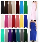 Womens Sheering Bandeau Boob tube Gather Strapless Summer Beach Maxi Dress 8-22