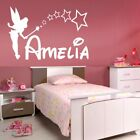 PERSONALISED FAIRY wall sticker girls name bedroom princess tinkerbell art vinyl