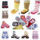 1Pair Infant Toddler Indoor Anti-slip Warmer Animal Print Cotton Socks Shoe Boot