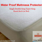 LUXURY TERRY TOWELLING MATTRESS PROTECTOR FITTED SHEET BED COVER ALL SIZE
