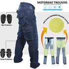 New Motorbike Motorcycle Trousers Jeans Reinforced With Protection Lining Blue