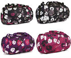 New Ladies Floral Holdall Weekend Overnight Bag Cabin Flight Luggage Gym Travel
