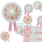 Classy Hen Night/Party Bride to Be ROSETTE & BADGES - Shabby Chic/Vintage Style