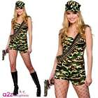 Ladies Bootcamp Babe Military Army GI Forces Hen Night Fancy Dress Costume