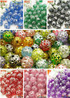 190pcs Round Ball Styles Acrylic Loose Beads For DIY Bracelets Necklaces Jewelry