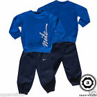 Nike Infant Baby Fleece Tracksuit Jog Suit Cotton Polyester Blue AllSizes 454254