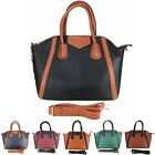 Ladies Designer Celebrity Vintage Large Satchel Tote Laptop Work Hand Smile Bag