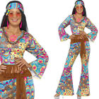 Cute Ladies Hippy Fancy Dress Costume 60s Hippie Lady Sixties Outfit Smiffys