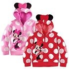 Polka Dots Toddlers Girls Hoodie Coat Kids Minnie Mouse Bow T Shirt Sweatshirt