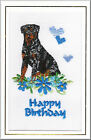 Rottweiler Birthday Card Embroidered by Dogmania