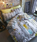Catherine Lansfield New York Times Square Skyline Yellow Taxi Bedding