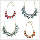 Variety Colors jewelry Lady Bubble Bib Statement Collar Chain Crystal Necklace