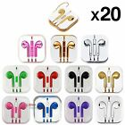 20 3.5mm Earphone Stereo Headset For iPhone Cell PC MP3 MP4 Laptop W Mic Remote