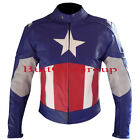 Captain America First Avengers Leather Motorcycle Motorbike Biker Racing Jacket