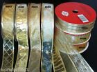 "Ribbon Wired Edge CHOOSE GOLD Glimmer Sparkle 100 Feet New 1 1/2"" Wide 33.3Yards"