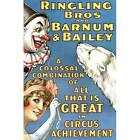 NEW! Vintage Ringling Bros Barnum Bailey Great Circus Poster Decor Wall Art