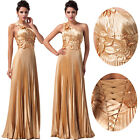 Vogue Pleated Prom Evening Party Cocktail Homecoming Bridesmaid Dress In Golden