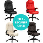 RayGar Luxury Executive Leather Reclining Padded PC Office Computer Desk Chair