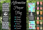 1x AFFIRMATION WALL SCROLL FLAG~Positive Saying Words~Reiki~Prayer~Hanging~130cm
