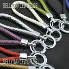 GENUINE LEATHER BRAIDED KEYCHAIN KEY FOB CHAIN RING HOLDER CLASSIC FASHION GIFT