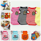 I LOVE MY MOMMY Summer Various Small Dog Cat Pet Clothes Vest British Apparel