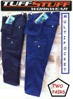TUFF STUFF~711 PROFESSIONAL WORK TROUSER~CARGO~COMBAT~330GRM~ W30-44 (TWO PAIRS)