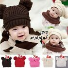 Baby Panda Winter Warm Cap Girl Toddler Boy Hat Kid Knit Crochet Infant Cute Kid