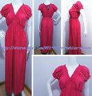 PLUS SIZE Full Length Women's Dress Short Sleeve Solid MAXI Sexy Dress/Gown #W5