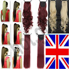 UK Ship Long Layered Ponytail Clip-On Hair Piece Extension wrap around Ponytails